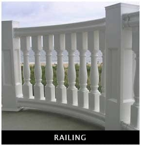 Polyurethane balcony and staircase railing