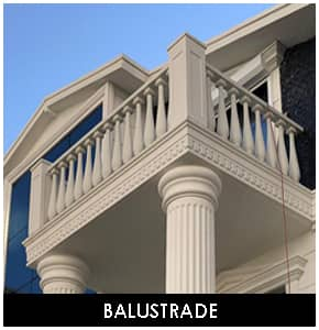 Polyurethane balcony and staircase balustrade