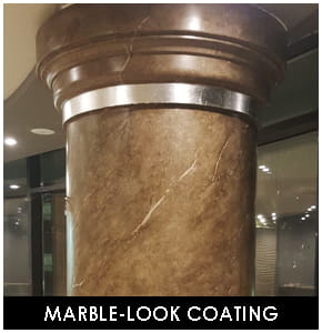 Polyurethane Marble-look column and Header
