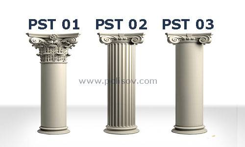 Flat ram, Corinth head and ram head Polyurethane Jamb Column Head Column Pedestal